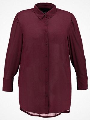 New Look Curves Skjorta burgundy