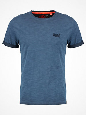 Superdry LABEL LOW ROLLER Tshirt bas forshore navy