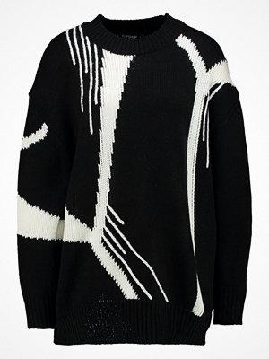 Topshop ABSTRACT DRIP JUMPER  Stickad tröja black