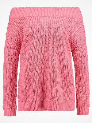 New Look TWIST OFF SHOULDER BARDOT Stickad tröja pink