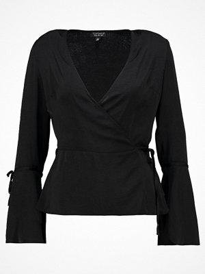 Topshop HAMMERED WRAP Blus black