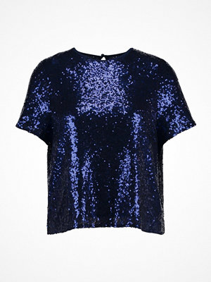 Missguided Tall TALL SEQUIN  Tshirt med tryck blue