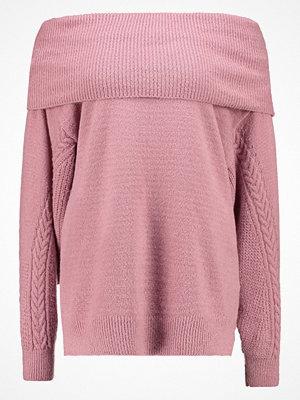 Topshop CABLE SLEEVE BARDOT  Stickad tröja pink