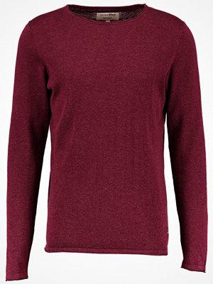 Tom Tailor Denim CREW ROLLED EDGES Stickad tröja deep burgundy red
