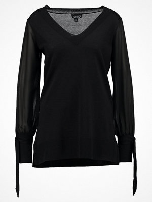 Topshop SLEEVE Stickad tröja black