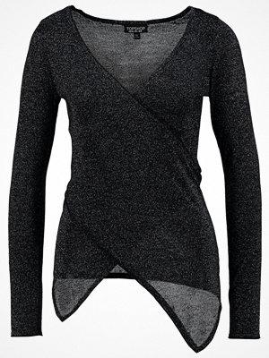 Topshop ASSYMETRIC WRAP Stickad tröja black