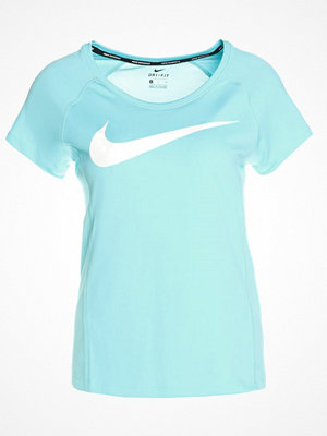 Nike Performance DRY MILER Tshirt med tryck polarized blue/white/reflective silv