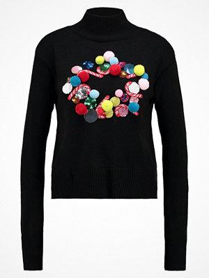 Topshop XMAS WREATH JUMPER Stickad tröja black