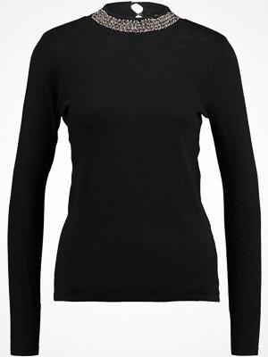 Dorothy Perkins FORMAL EMB NECK JUMPER Stickad tröja black