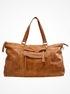 Pieces PCRIHANNA Weekendbag cognac brun