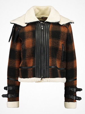 New Look KENNY CHECK BONDED FLYING Allvädersjacka brown pattern