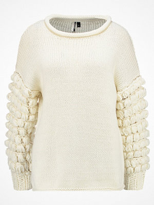 Topshop BOBBLE SLEEVE JUMPER Stickad tröja cream
