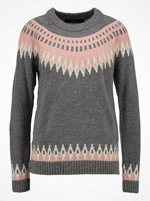 Vero Moda VMFEVER COPENHAGEN Stickad tröja medium grey melange/ rose cloud