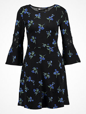 Dorothy Perkins FLORAL FIT AND FLARE Jerseyklänning blue
