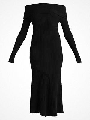 Topshop WIDE BARDOT  Stickad klänning black