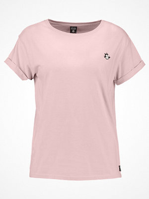 Scotch & Soda BASIC TEE WITH SMALL FELIX EMBROIDERED Tshirt med tryck japanese apricot