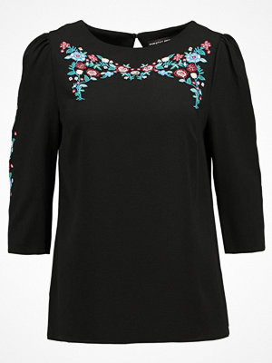 Dorothy Perkins EMBROIDERED MUTTON SLEEVE  Blus black