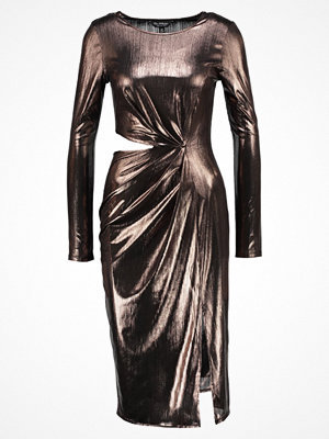Miss Selfridge METALLIC DRESS Cocktailklänning rose