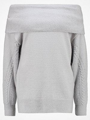 Topshop CABLE SLEEVE BARDOT  Stickad tröja light grey