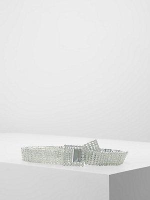 Bälten & skärp - Topshop CRYSTAL BELT Skärp silvercoloured
