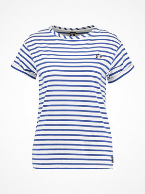 Scotch & Soda BASIC TEE WITH SMALL FELIX EMBROIDERED Tshirt med tryck blue