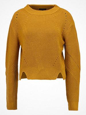 Topshop ZIP BACK JUMPER  Stickad tröja lime