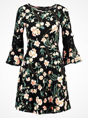 Dorothy Perkins FLORAL FIT AND FLARE Jerseyklänning black