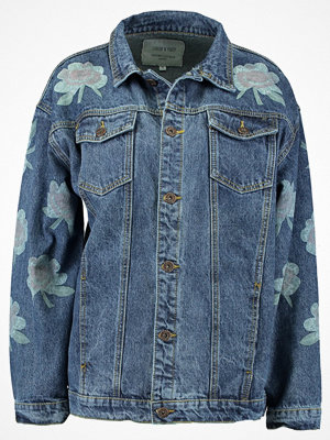 Liquor N Poker DENIM JACKET WITH PRINT Jeansjacka stonewash