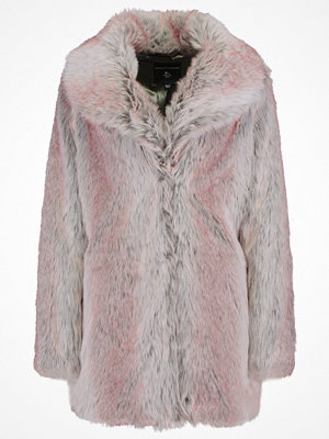 Dorothy Perkins SHAWL FUR COAT Vinterkappa /rock grey