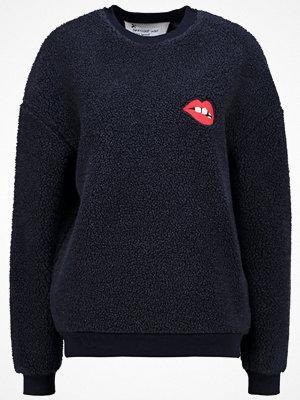 Topshop BORG LIPS Sweatshirt dark blue