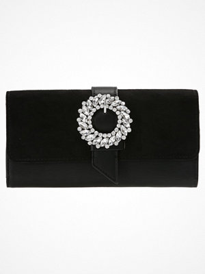 Topshop DIAMANTE GEM BUCKLE Plånbok black