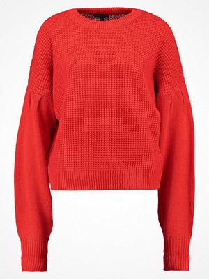 Topshop PLEAT SLV DETAIL  Stickad tröja red
