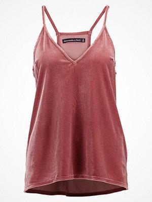 Abercrombie & Fitch VELVET CAMI Linne pink