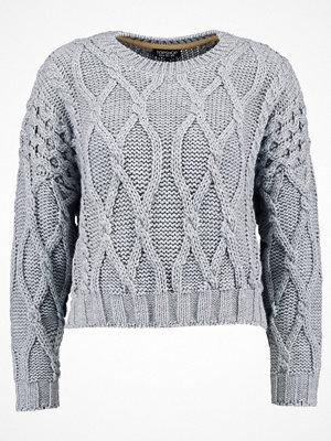 Topshop CROP CABLE Stickad tröja grey marl