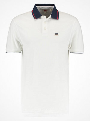 Levi's® BREAKER LOGO Piké white body/dress blues/chinese red
