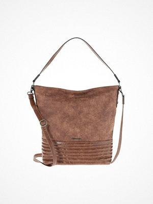 Tamaris omönstrad shopper CARLA HOBO BAG Shoppingväska brown