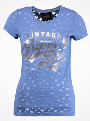 Superdry STACKER BURNOUT ENTRY TEE Tshirt med tryck pavillion navy