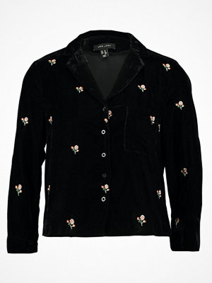 New Look EMBROIDERED Skjorta black
