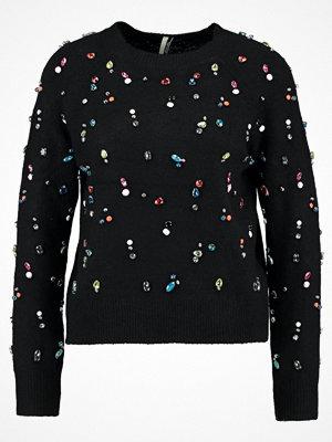 Topshop EMBELLISHED XMAS JUMPER Stickad tröja black