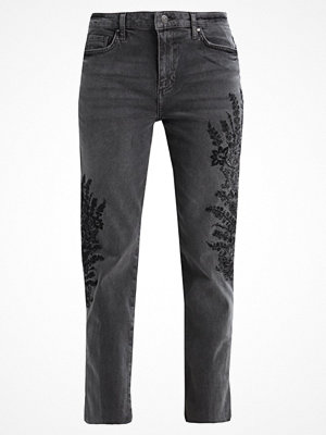 Free People EMBROIDERED GIRLFRIEND JEAN Jeans straight leg grey