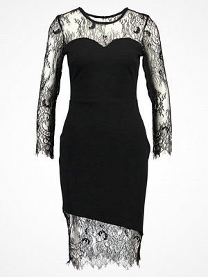 Dorothy Perkins ASYMMETRIC LACE HERM BODYCON Cocktailklänning black