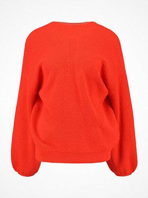 Vero Moda VMDARCEL SVEA BALLOON Stickad tröja spicy orange
