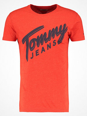 Tommy Jeans BASIC Tshirt med tryck spicy orange