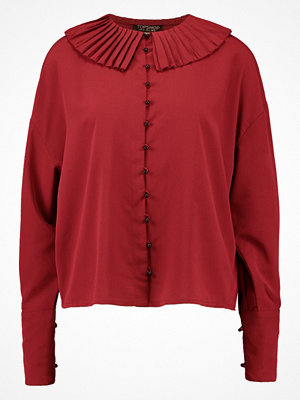 Topshop CROWN COLLAR Skjorta burgundy