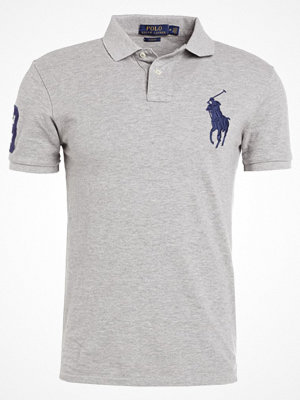 Polo Ralph Lauren BASIC MESH SLIM FIT Piké grey heather