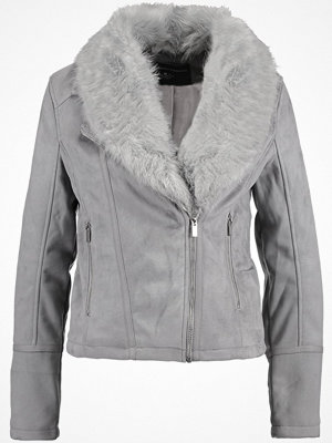 Dorothy Perkins BIKER JACKET Jacka i konstläder light grey