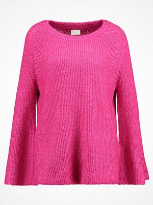 Vila VIGRIPPA Stickad tröja beetroot purple