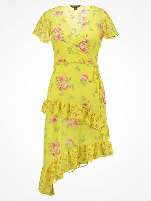 Miss Selfridge MIXED FRILL DRESS Sommarklänning yellow