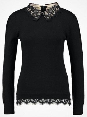 Topshop LACE HYBRID Stickad tröja black
