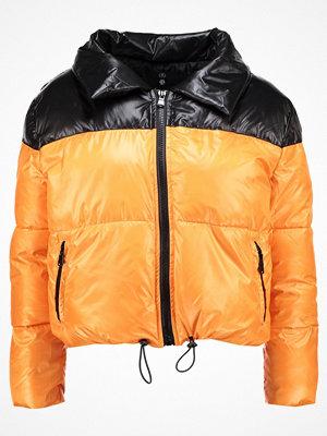 Missguided Petite COCOON EXTREME TONE BUBBLE COAT Vinterjacka black/orange